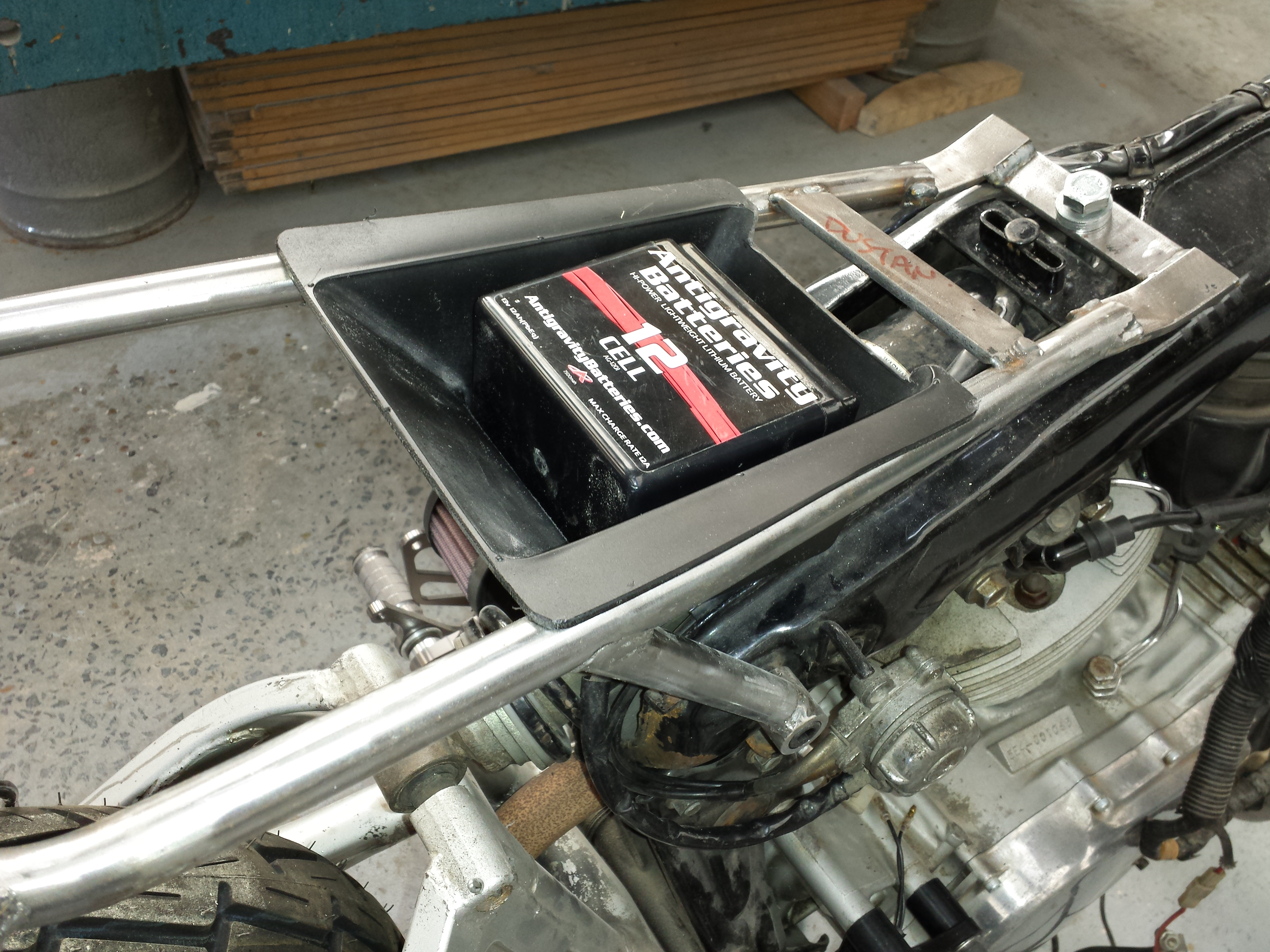 Cafe Racer Battery Box Location